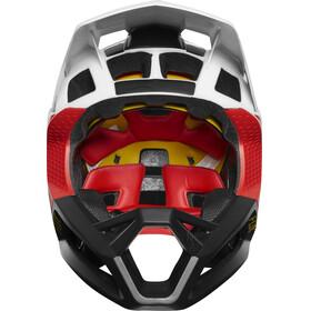 Fox Proframe Pistol Full Face Helmet Men white/black/red